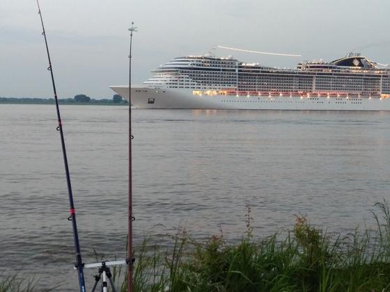 Brandeln in der Elbe